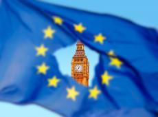 Europese vlag met Big Ben