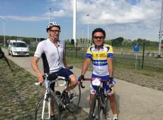 Ministers Muyters en Weyts op de fiets