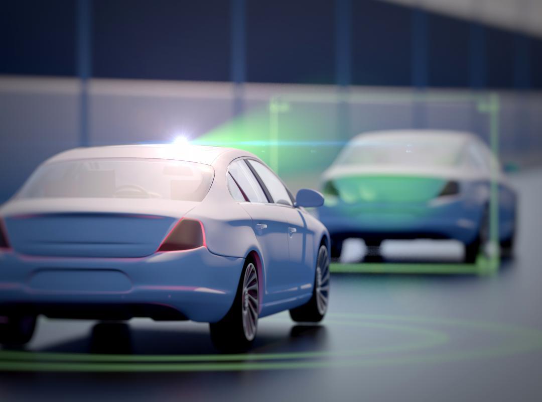 2 geconnecteerde en samenwerkende auto's